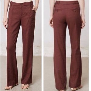 ANTHROPOLOGIE ELEVENSES Boho Wide Leg Pants Sz 2